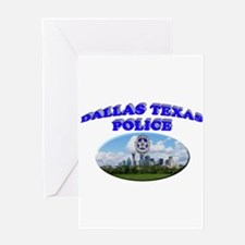 Dallas PD Skyline Greeting Card