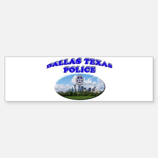 Dallas PD Skyline Sticker (Bumper)