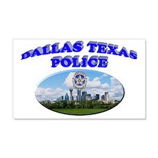 Dallas PD Skyline 22x14 Wall Peel