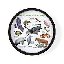 Animals of the Florida Everglades Wall Clock