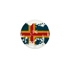 Aland Flag Mini Button (10 pack)
