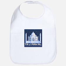"""""""Pixel Taj Mahal with Stars"""" Bib"""