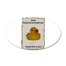 Wanted - Ducky 22x14 Oval Wall Peel