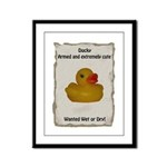 Wanted - Ducky Framed Panel Print