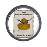 Wanted - Ducky Wall Clock