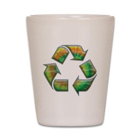 Recycle -Tie-Dye Shot Glass