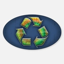 Recycle -Tie-Dye Sticker (Oval)