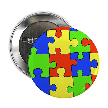 """Autism Puzzle 2.25"""" Button"""