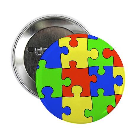 """Autism Puzzle 2.25"""" Button (10 pack)"""