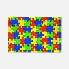 Autism Puzzle Rectangle Magnet (10 pack)