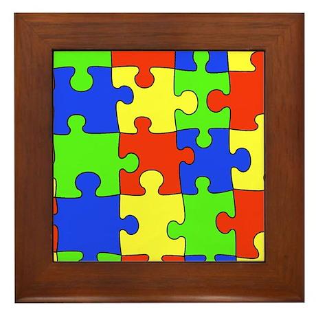 Autism Puzzle Framed Tile