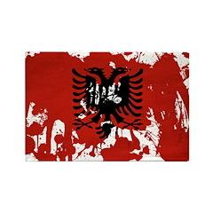 Albania Flag Rectangle Magnet (10 pack)