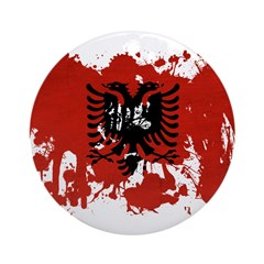 Albania Flag Ornament (Round)