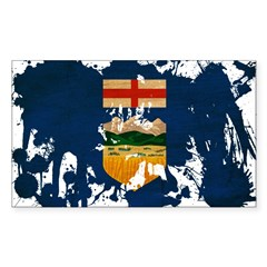 Alberta Flag Sticker (Rectangle 10 pk)