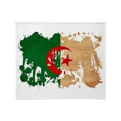 Algeria Flag Throw Blanket