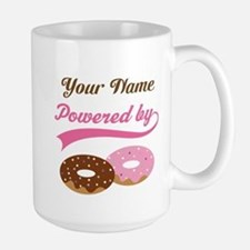 Powered By Doughnuts Personalized Mugs