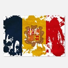 Andorra Flag Postcards (Package of 8)