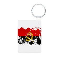 Angola Flag Aluminum Photo Keychain