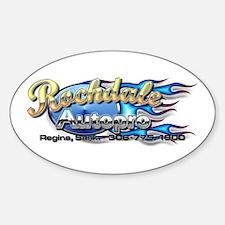 Oval Sticker Splat Graphics Logo