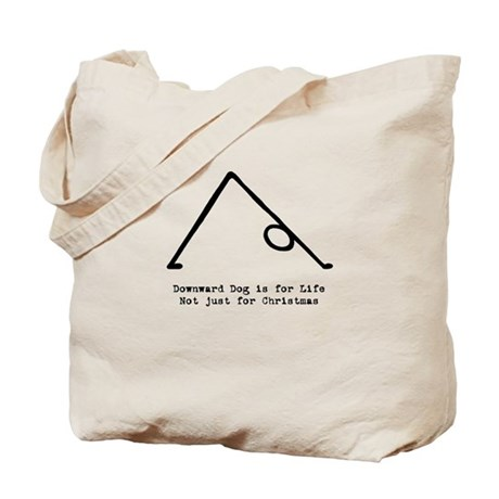 Downward Dog is for Life not Christmas Tote Bag