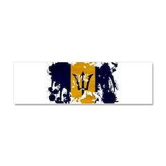 Barbados Flag Car Magnet 10 x 3