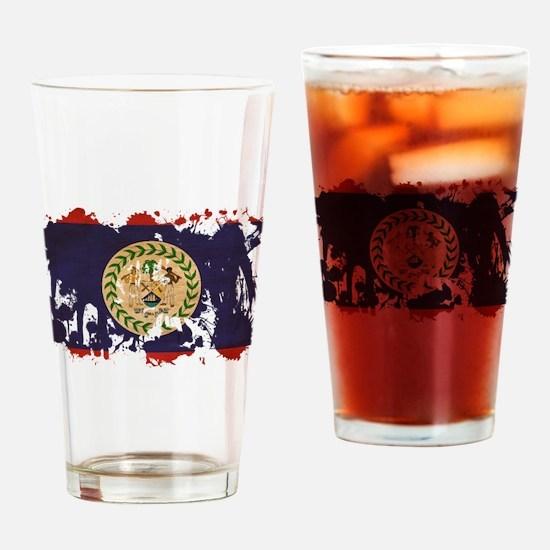 Belize Flag Drinking Glass