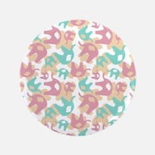 "Cute Elephants 3.5"" Button (100 pack)"