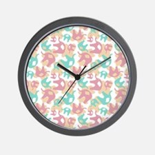 Cute Elephants Wall Clock