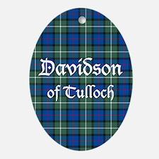 Tartan - Davidson of Tulloch Ornament (Oval)