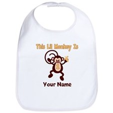 1st Birthday Monkey Bib