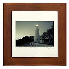 Ocracoke Lighthouse. Framed Tile