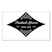 Football Moms Kick Ass Decal