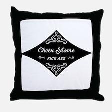 Cheer Moms Kick Ass Throw Pillow