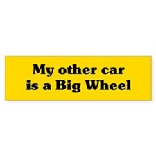 Big Wheel Car Sticker