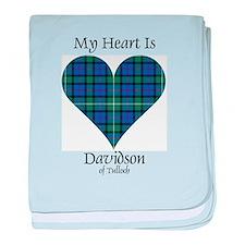 Heart - Davidson of Tulloch baby blanket