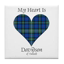 Heart - Davidson of Tulloch Tile Coaster