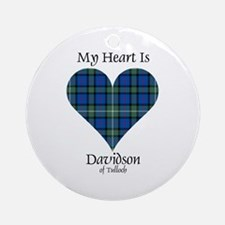 Heart - Davidson of Tulloch Ornament (Round)