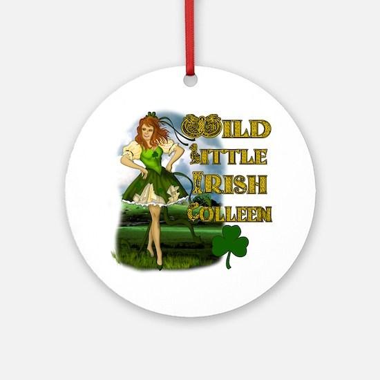 Wild Little irish Colleen Ornament (Round)