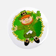 """Lucky the Leprechaun 3.5"""" Button"""