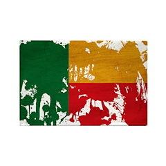 Benin Flag Rectangle Magnet