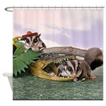 Crocodile #2 Shower Curtain