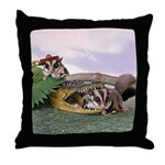 Crocodile #2 Throw Pillow