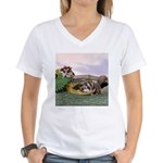 Crocodile #2 Women's V-Neck T-Shirt