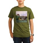 Crocodile #2 Organic Men's T-Shirt (dark)
