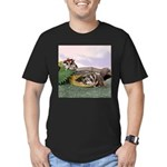 Crocodile #2 Men's Fitted T-Shirt (dark)