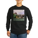 Crocodile #2 Long Sleeve Dark T-Shirt