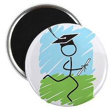 Graduate Runner Grass Magnet