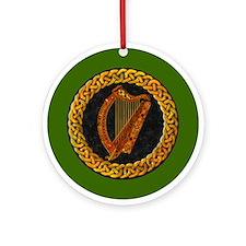 CELTIC HARP Ornament (Round)