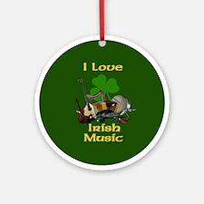 IRISH MUSIC Ornament (Round)