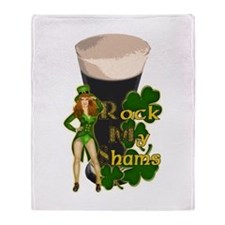 Rock My Shams Irish Stout Throw Blanket